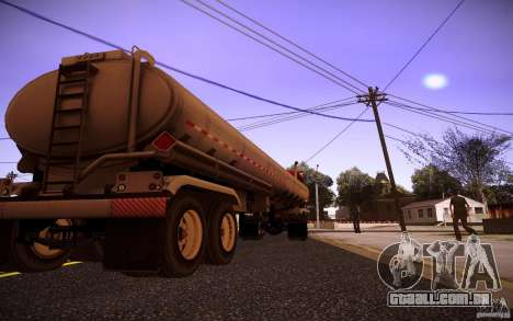 Reboque Kenworth T600 para GTA San Andreas vista direita