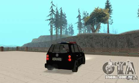 Volkswagen Touran 2006 Police para GTA San Andreas esquerda vista