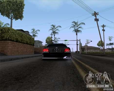 Toyota Chaser jzx100 Drift Police para GTA San Andreas traseira esquerda vista