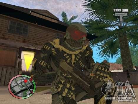 Coleção de armas de Crysis 2 para GTA San Andreas décimo tela