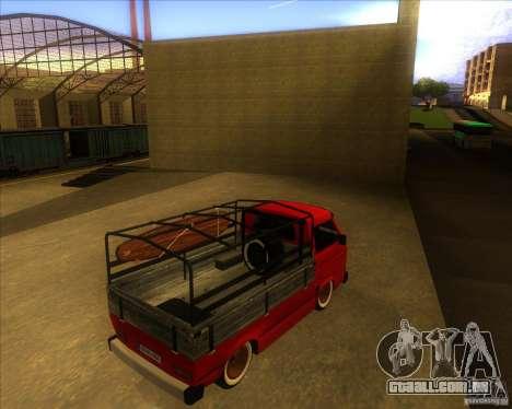 Volkswagen Transporter T3 pickup para GTA San Andreas vista direita
