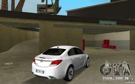 Opel Insignia para GTA Vice City vista direita