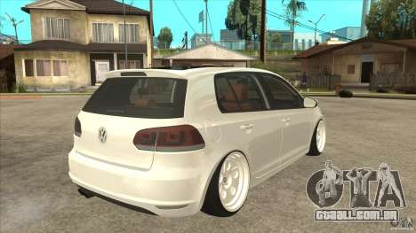 Volkswagen Golf VI 2010 Stance Nation para GTA San Andreas vista direita