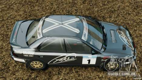 Subaru Impreza WRX STI 1995 Rally version para GTA 4 vista direita