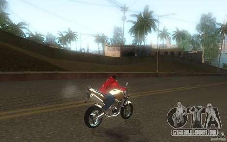 Honda CBF 600 Hornet para GTA San Andreas vista traseira