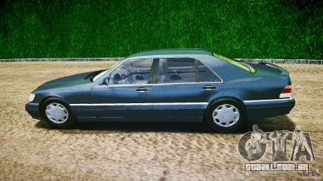 Mercedes Benz SL600 W140 1998 higher Performance para GTA 4 esquerda vista