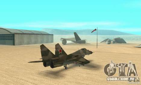 MIG-29 para GTA San Andreas esquerda vista