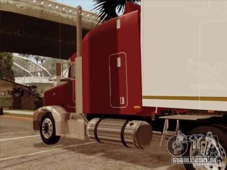 Peterbilt 377 para GTA San Andreas vista traseira