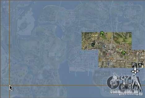 O novo mapa e radar para GTA San Andreas segunda tela