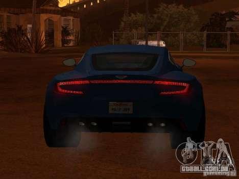 Aston Martin One77 para GTA San Andreas vista traseira