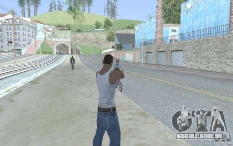Vista azul para GTA San Andreas por diante tela