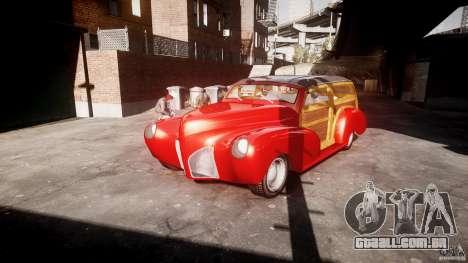 Chevy Fleetmaster Woody Kustom 1948 para GTA 4 vista de volta