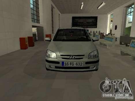 Hyundai Getz para GTA San Andreas esquerda vista