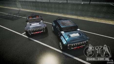 Hummer HX para GTA 4 vista inferior