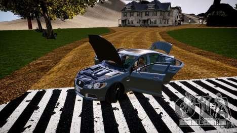 Jaguar XFR 2010 para GTA 4 vista lateral