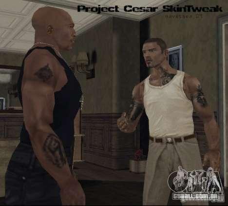 Reteksturizaciâ personagens para GTA San Andreas por diante tela