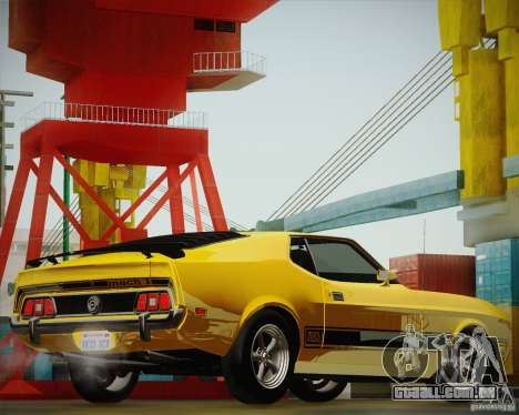 Ford Mustang Mach1 1973 para GTA San Andreas vista traseira