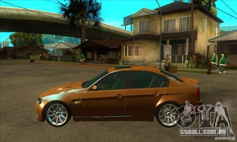 BMW E90 M3 para GTA San Andreas esquerda vista