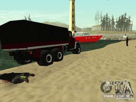 KrAZ 260 para GTA San Andreas vista traseira