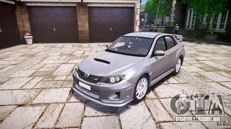 Subaru Impreza WRX 2011 para GTA 4