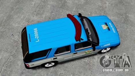 Chevrolet Blazer 2010 PMERJ ELS para GTA 4 vista direita