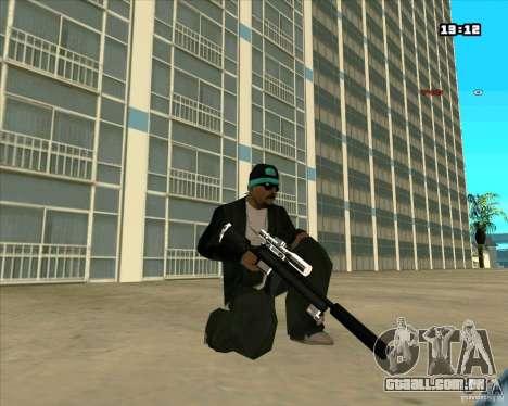 Chrome Weapon Pack para GTA San Andreas sexta tela