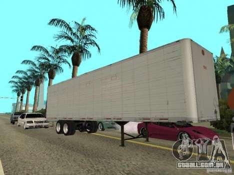 American Trailers Pack para GTA San Andreas traseira esquerda vista