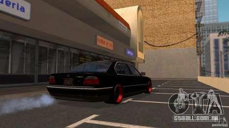 BMW E38 750LI para GTA San Andreas traseira esquerda vista