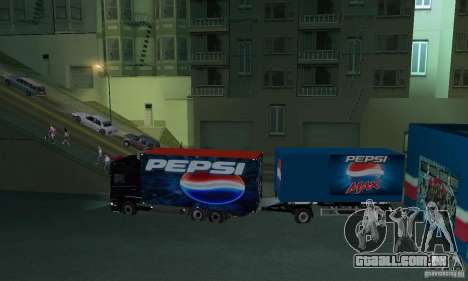 Pepsi Market and Pepsi Truck para GTA San Andreas por diante tela