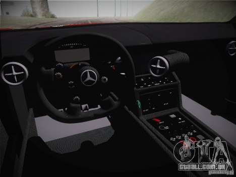 Mercedes-Benz SLS AMG GT3 Black Falcon 2011 para GTA San Andreas vista interior