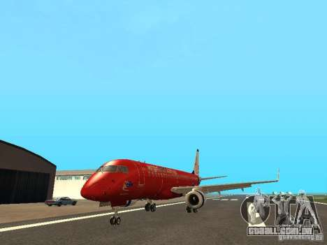 Embraer ERJ 190 Virgin Blue para GTA San Andreas