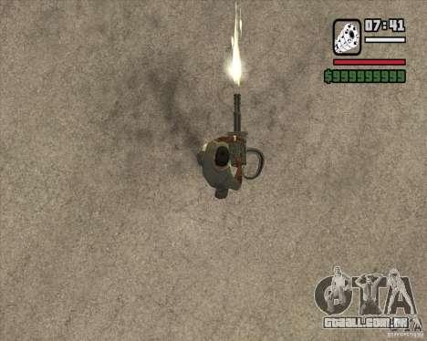 Hand Held M134 Minigun para GTA San Andreas terceira tela