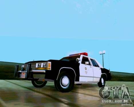 Ford Crown Victoria LTD LAPD 1991 para GTA San Andreas traseira esquerda vista