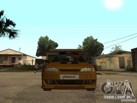 VAZ 2115 polícia carro Tuning para GTA San Andreas vista direita