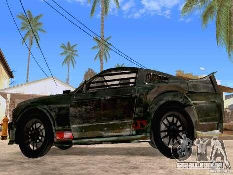 Ford Mustang Death Race para GTA San Andreas esquerda vista