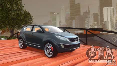 Kia Sportage 2010 v1.0 para GTA 4 vista superior