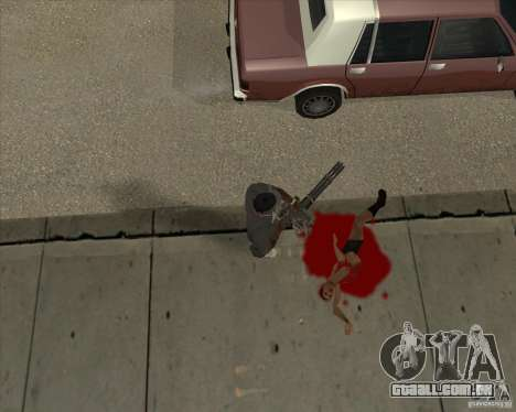Real Ragdoll Mod Update 02.11.11 para GTA San Andreas por diante tela