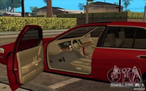 Mercury Grand Marquis 2006 para GTA San Andreas traseira esquerda vista