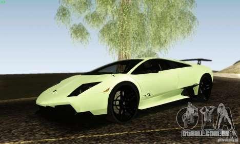 Lamborghini Murcielago LP 670-4 SV para GTA San Andreas vista direita