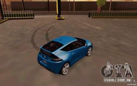 Honda CR-Z 2010 V3.0 para GTA San Andreas vista direita