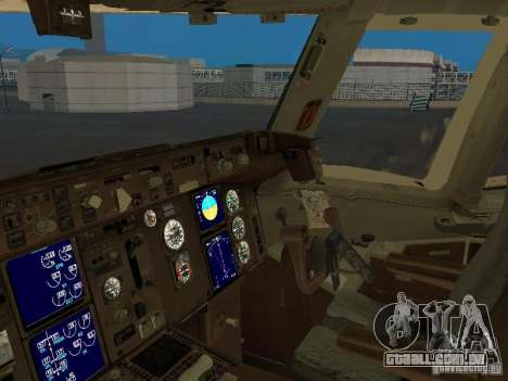 Boeing 767-300 British Airways para GTA San Andreas vista interior
