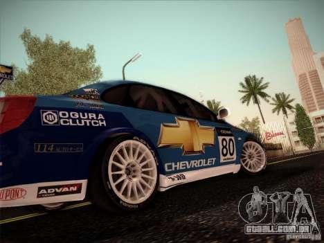 Chevrolet Lacetti WTCC v2 para GTA San Andreas traseira esquerda vista