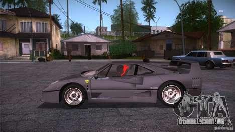 Ferrari F40 para GTA San Andreas esquerda vista