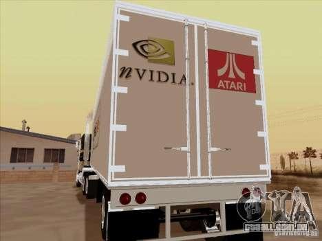Caband trailer para GTA San Andreas vista direita