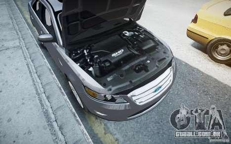 Ford Taurus SHO 2010 para GTA 4 vista inferior