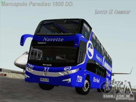 Marcopolo Paradiso 1800 DD Navette XL Coomotor para GTA San Andreas