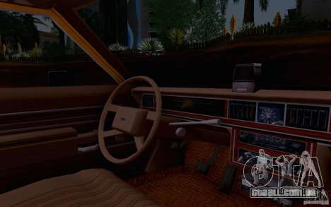 Ford Crown  Victoria LTD 1985 taxi para GTA San Andreas vista direita