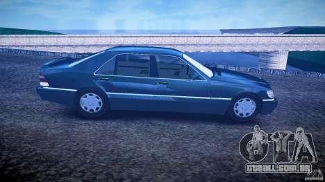 Mercedes Benz SL600 W140 1998 higher Performance para GTA 4 vista de volta