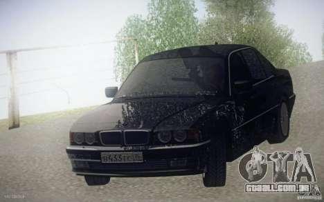 BMW 750i E38 2001 para GTA San Andreas vista traseira