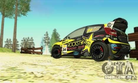 Ford Fiesta Rockstar Energy para GTA San Andreas vista traseira